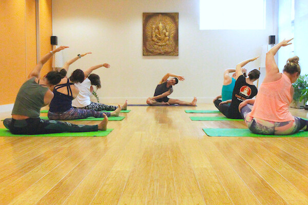Hatha yoga class in Holland Park