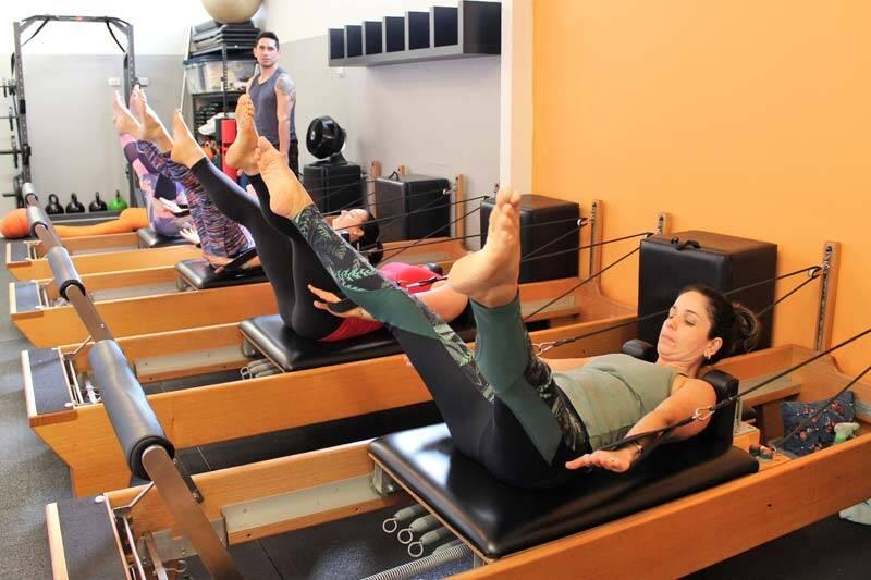 Reformer Pilates fitness class