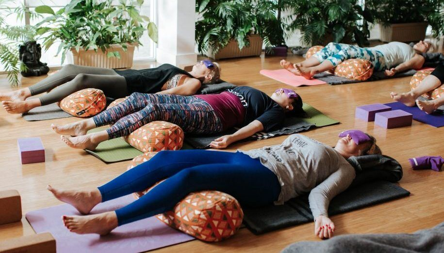Restorative yoga in Holland Park